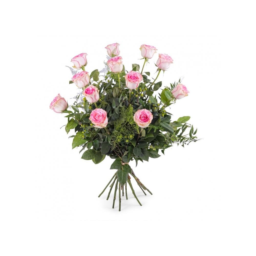 6c3157646452a Ramo 12 Rosas Rosa - rosanflor