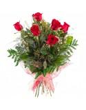 Ramo 6 rosas Tallo Largo